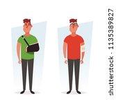 cartoon characters   injured... | Shutterstock .eps vector #1135389827