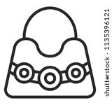 a decorated purse with small... | Shutterstock .eps vector #1135396121