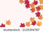 autumn background layout...   Shutterstock .eps vector #1135396787