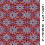 symmetrical geometric pattern. | Shutterstock . vector #1135400057