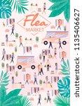 flea market poster with people... | Shutterstock .eps vector #1135406627