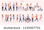set of people in different... | Shutterstock .eps vector #1135407731