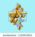 creative design poster  minimal ... | Shutterstock .eps vector #1135415021