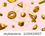 creative design poster  minimal ... | Shutterstock .eps vector #1135415027