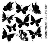 Various Butterflies  Black...