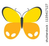butterfly design where wings... | Shutterstock .eps vector #1135417127