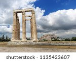 the ancient temple of olympic... | Shutterstock . vector #1135423607