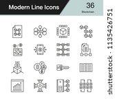 blockchain icons. modern line... | Shutterstock .eps vector #1135426751