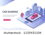 car sharing concept. can use... | Shutterstock .eps vector #1135431104