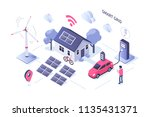 smart grid concept design. can... | Shutterstock .eps vector #1135431371