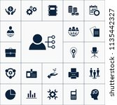 vector set of business icons.... | Shutterstock .eps vector #1135442327