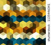 hexagon grid seamless vector... | Shutterstock .eps vector #1135446341