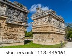 the ancient city of the maya... | Shutterstock . vector #1135449161