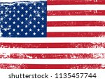 grunge usa flag.dirty american... | Shutterstock .eps vector #1135457744