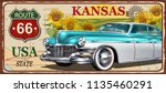 kansas vintage metal sign ... | Shutterstock .eps vector #1135460291
