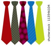 vector neckties set | Shutterstock .eps vector #113546104