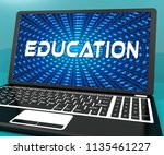cybersecurity education... | Shutterstock . vector #1135461227