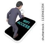 wifi access point remote... | Shutterstock . vector #1135461254