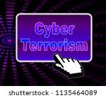 cyber terrorism online...   Shutterstock . vector #1135464089