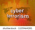 cyber terrorism online...   Shutterstock . vector #1135464281