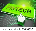 fin tech financial technology... | Shutterstock . vector #1135464335