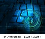cybersecurity business cyber... | Shutterstock . vector #1135466054