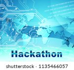 hackathon technology threat... | Shutterstock . vector #1135466057