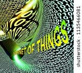 interconnected iot internet of... | Shutterstock . vector #1135466081