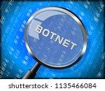 botnet illegal scam network... | Shutterstock . vector #1135466084