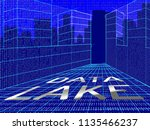 data lake digital datacenter... | Shutterstock . vector #1135466237