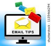 email tips online postal... | Shutterstock . vector #1135466294
