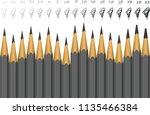 black graphite wooden pencils... | Shutterstock .eps vector #1135466384