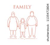 family. mom  dad and daughter.... | Shutterstock .eps vector #1135472804