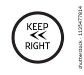 keep left icon vector isolated... | Shutterstock .eps vector #1135477814