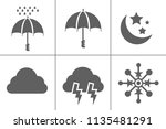 weather icons for weather... | Shutterstock .eps vector #1135481291