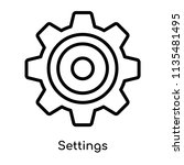 settings icon vector isolated... | Shutterstock .eps vector #1135481495