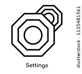 settings icon vector isolated... | Shutterstock .eps vector #1135481561