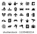 vector travel icons  vacation... | Shutterstock .eps vector #1135483214