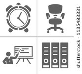 startup new business icons set  ... | Shutterstock .eps vector #1135483331