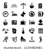vector travel icons  vacation... | Shutterstock .eps vector #1135483481