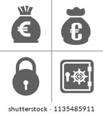 bank and finance icons set ... | Shutterstock .eps vector #1135485911