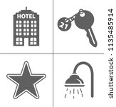 vector travel icons  vacation... | Shutterstock .eps vector #1135485914