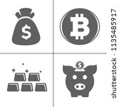 bank and finance icons set ... | Shutterstock .eps vector #1135485917
