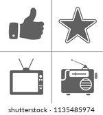 vector entertainment icons set  ... | Shutterstock .eps vector #1135485974