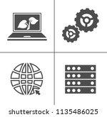computer icons set   computer... | Shutterstock .eps vector #1135486025