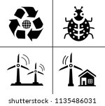 energy and ecology icons ... | Shutterstock .eps vector #1135486031