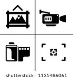 vector photography icons set  ... | Shutterstock .eps vector #1135486061