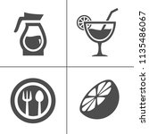 cafe and confectionery icon set.... | Shutterstock .eps vector #1135486067
