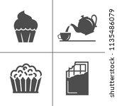 cafe  sweet  baked  desserts... | Shutterstock .eps vector #1135486079