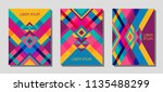collection of cover page... | Shutterstock .eps vector #1135488299